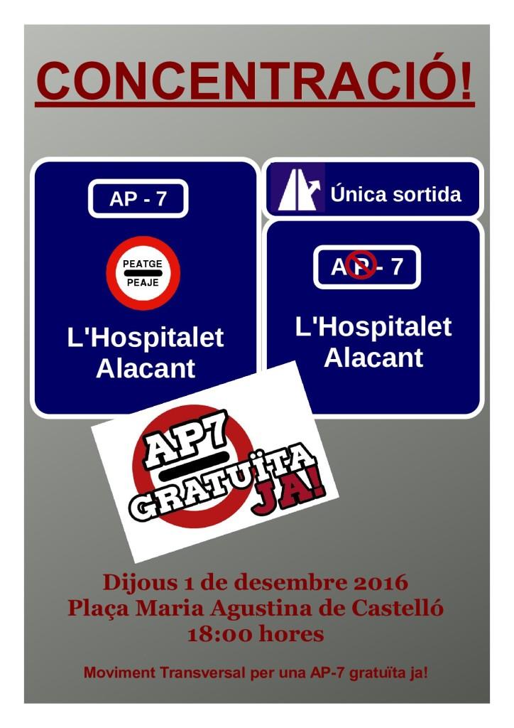 Concentració a Castelló per una AP-7 gratuïta.
