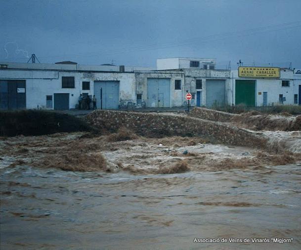 Perill, arbres al Cervol, aumenta el risc d'inundació de Vinaròs