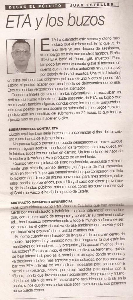 ARTICLE DEL 28.10.2000.- CAL TENIR MEMÒRIA