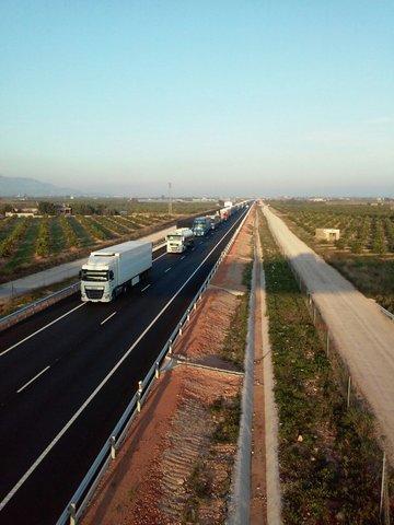 19 de Novembre: 5è. Tall de carretera a Vinaròs