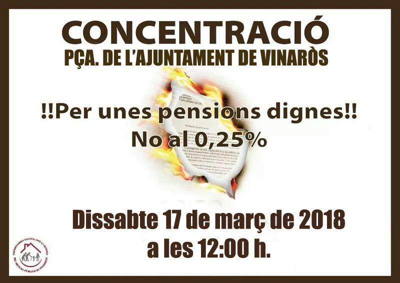 CONCENTRACIÓ PER LES PENSIONS