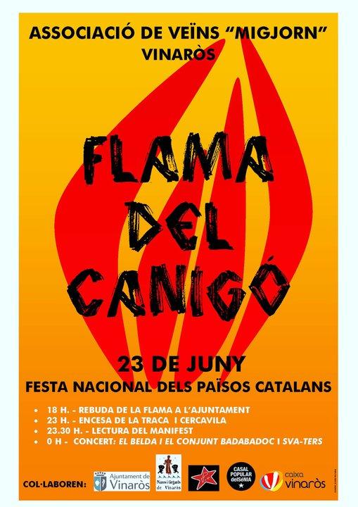 MISSATGE DE LA FLAMA DEL CANIGÓ
