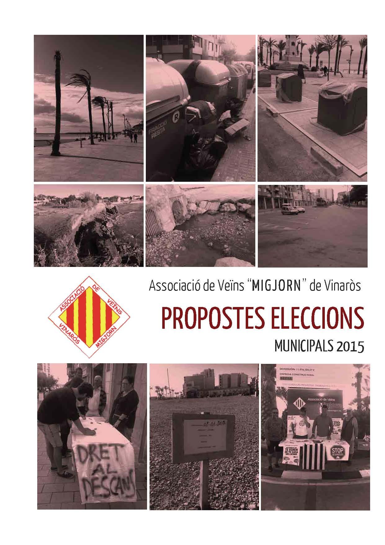 les nostres propostes de cara a les eleccions municipals del 2015